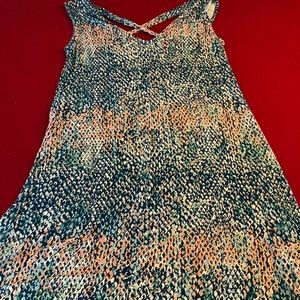 Dresses & Skirts - Sundress/Cover up Multi color corals and teals.